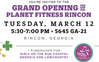 Join Planet Fitness Rincon for a Grand Opening Celebration & Fundraiser for Girls on the Run!