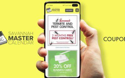 Announcing the Savannah Master Calendar Coupon Page