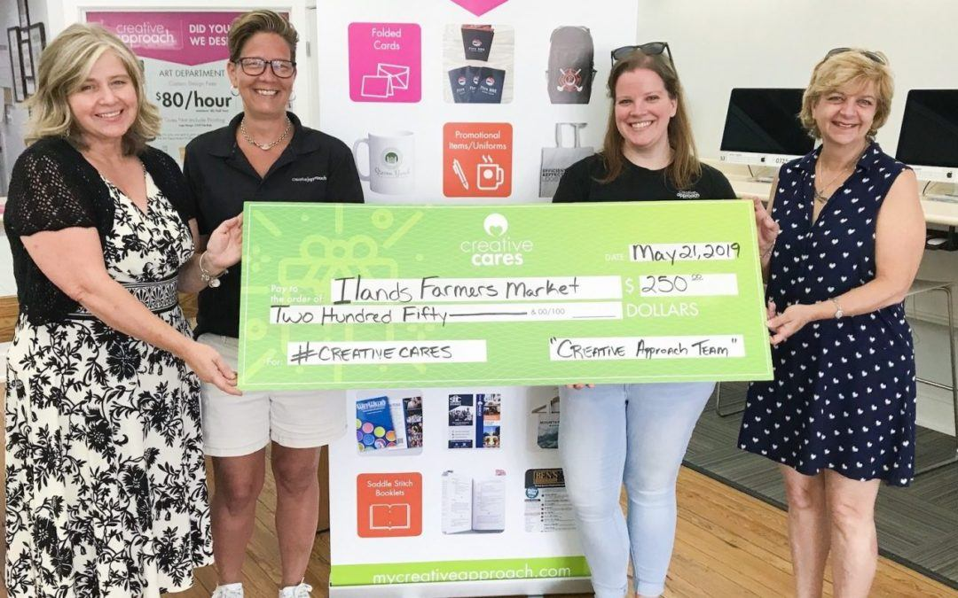 Creative Approach Makes Donation to Islands Farmers' Market