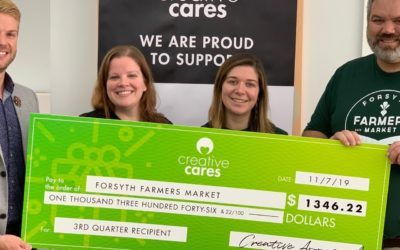 Creative Approach Donates Over $1,300 to Forsyth Farmers' Market
