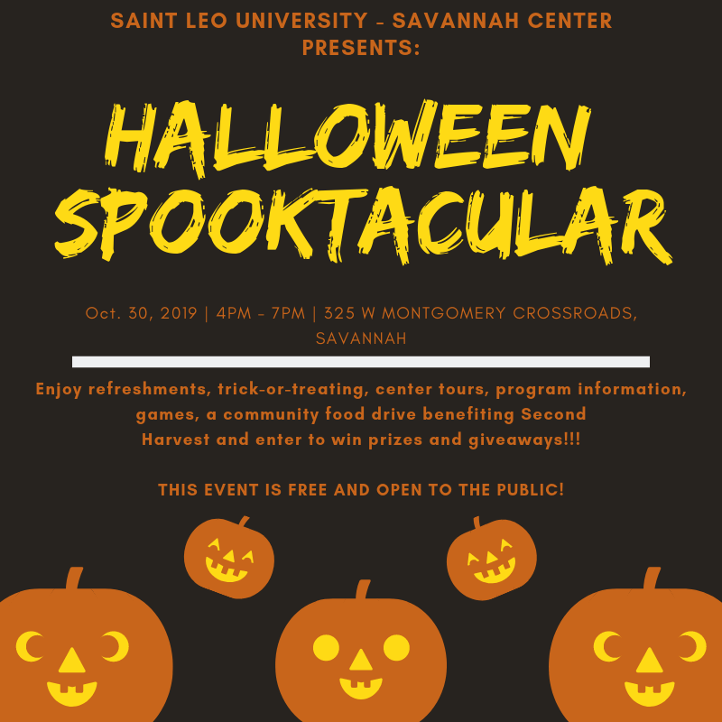Halloween 2020 Montgomery Al Saint Leo University Savannah Center presents Halloween